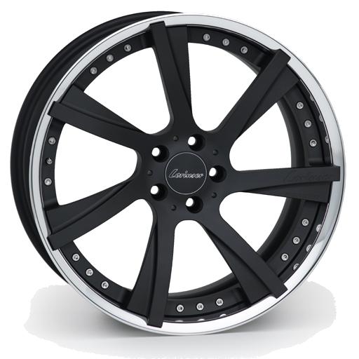 Lorinser RSK8 Black enodized, polished rim